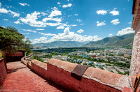 Th view from the top of Potala Palace.
