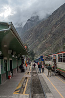 Leaving the station for Machu Picchu.