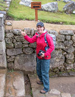 Jane ready to hike Wayna Picchu.