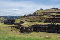 Ancient ruins of the Incas above Cusco.