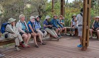 Group learning about the conservancy of Galapagos.