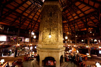 Lobby of Chateau Montebello.