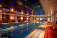 Swimming pool in the lower level of the ship.